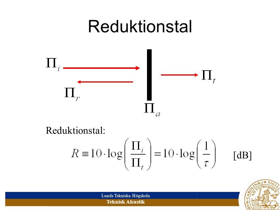 Reduktionstal Reduktionstal: [dB]